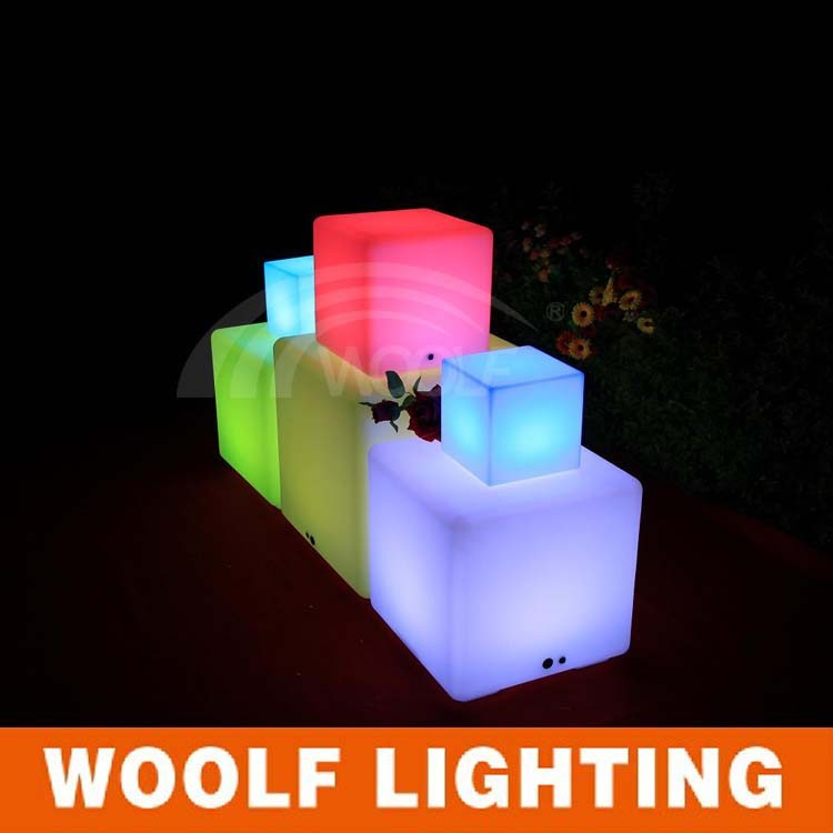 Modern LED Cube Seat Lighting with drawing logo /LED Cube Chair