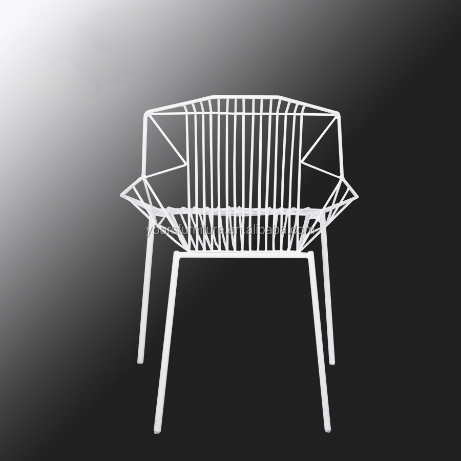 retro wire seating metal full mesh chair