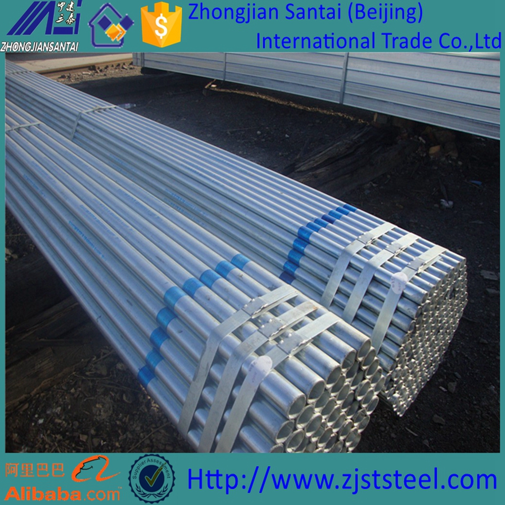 Trade assurance hot-dipped pre-galvanized steel pipe zinc-coated steel pipe