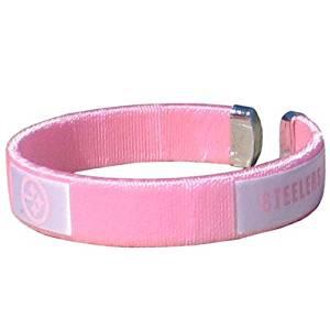 NFL Pittsburgh Steelers Pink Fan Band Bracelet