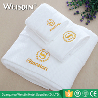 Bulk wholesale custom logo terry cotton hotel face towel hand towel bath towel set