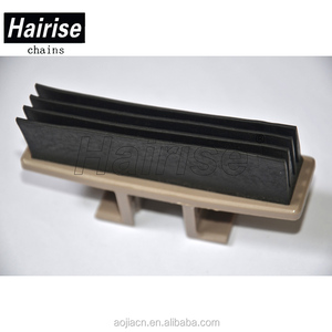 Snap-on Rubber Tube plastic conveyor slat top chain