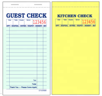 FSC two parts carbonless guest checks TM-G7000 Waiter Waitress Order Pad