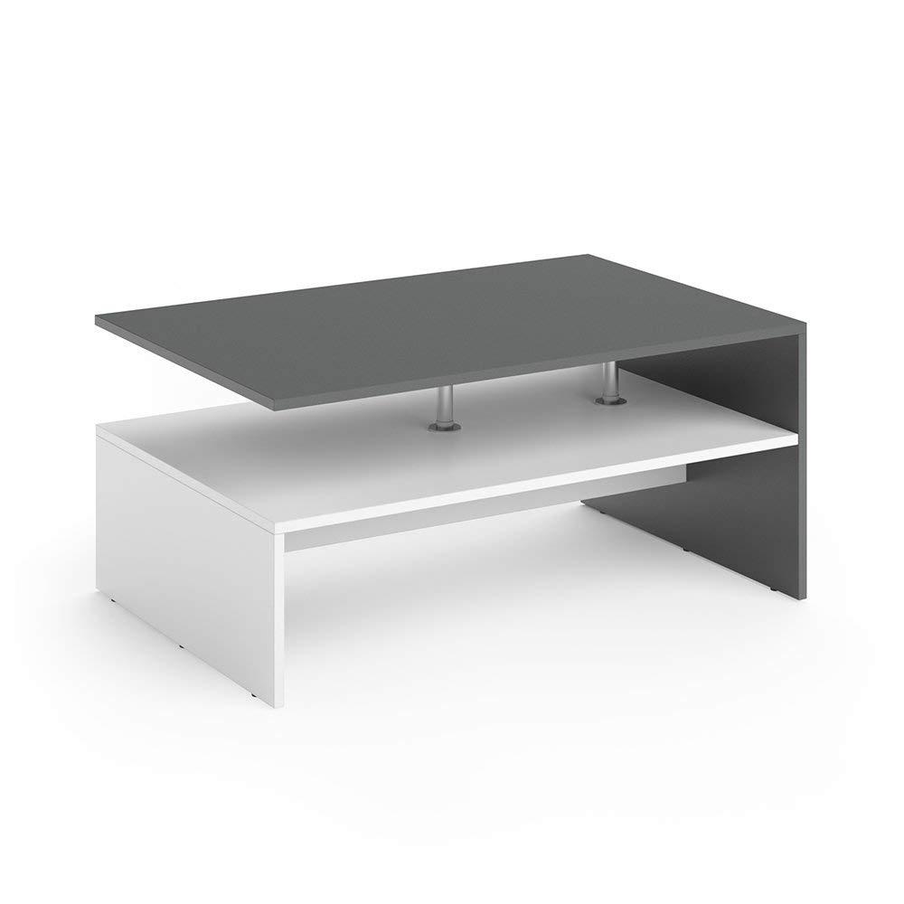 - Modern Coffee Table 2-tier Rectangular Storage Open Shelf Table