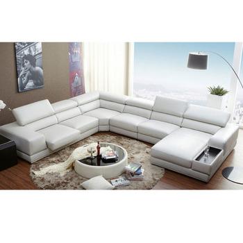 Luxus Sofa Set 7 Sitzer Schnitts Sofa U Form Verstellbare Kopfstütze  Italienischen Leder Sofas - Buy Italienischen Leder Sofas,Sofa Set 7  Sitzer,7 ...