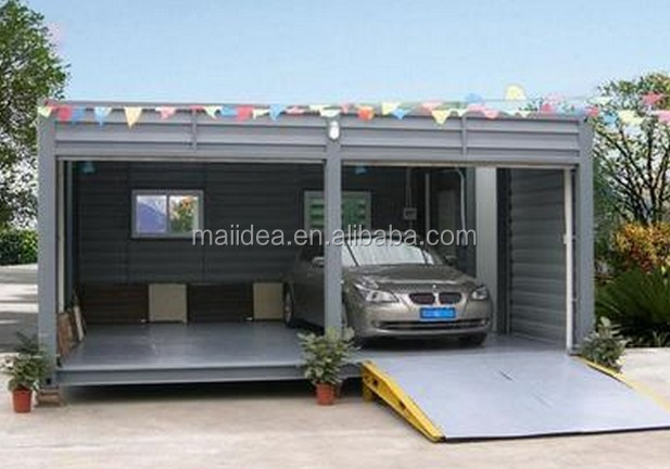 car garage chinese steel structure car garage shipping container garage buy car garage chinese. Black Bedroom Furniture Sets. Home Design Ideas