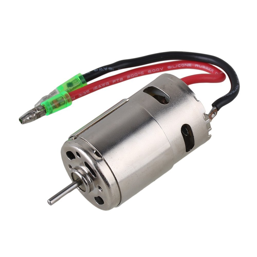 Mxfans 28006 Silver Iron Brushed Electric Engine Motor with 390 High Speed for HSP RC1:16 Model Trucks
