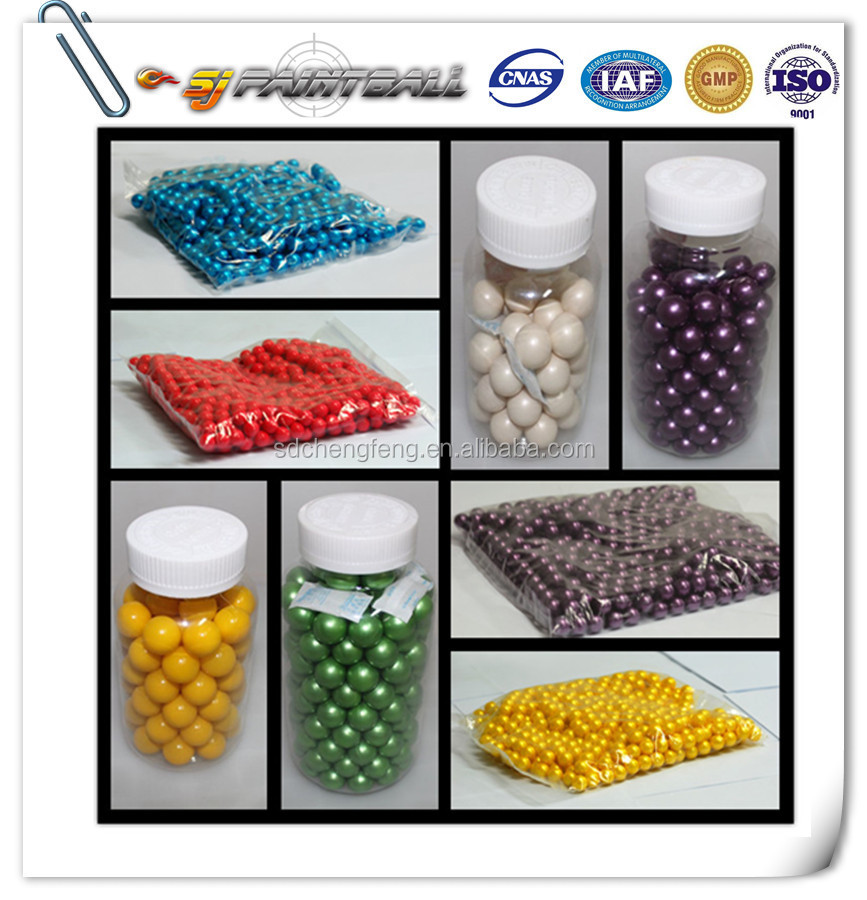 Cheap peg 0.68 caliber paintballs / paintball pellets / paintball balls are well appreciated by customers