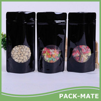2017 Front Transparent Resealable Zipper Poly Plastic Bag/Doypack Stand up pouch with zipper for food