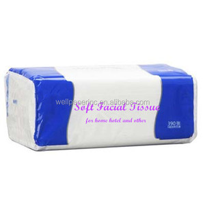 2015 China Manufacturer Wholesale good quality cheap price facial tissue soft pack no paper powder