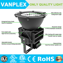 DLC ETL UL High power Super bright led spot lighting for stadium 500W led flood light