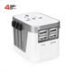 New style high quality world travel adapter charger for new year gift set