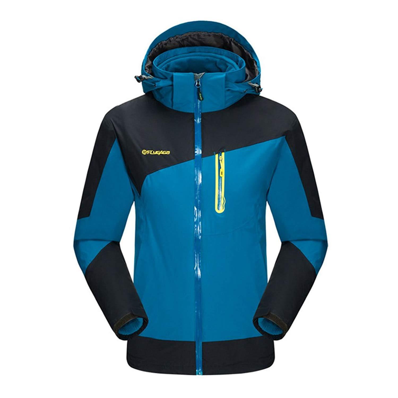 aec1783b0d9 Get Quotations · mansmoer Men s 3in1 Waterproof Breathable Coat Outdoor  Camping Hiking Jacket