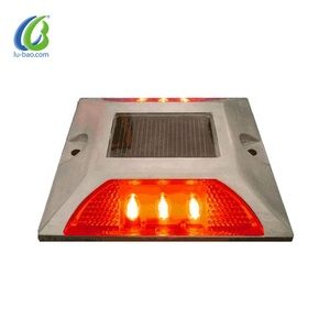 LS-01 Aluminum Solar Road STUD Path Deck Dock Warning Light with 6LED Driveway LAMP / Solar Road Studs