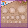Good Quality Making Picture Jewelry Round Domed Clear Glass Flat Cabochons