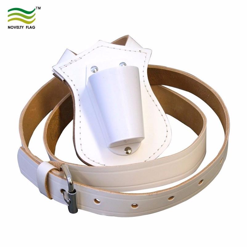 Black Single Web Sling Adjust Carrying Belt Color Guard Parade Flagpole Holder