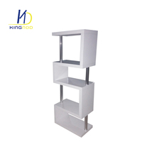 Factory Wholesale Library Triangle Ladder Shawn Soh Modern Movable Tree Shaped Bookshelf