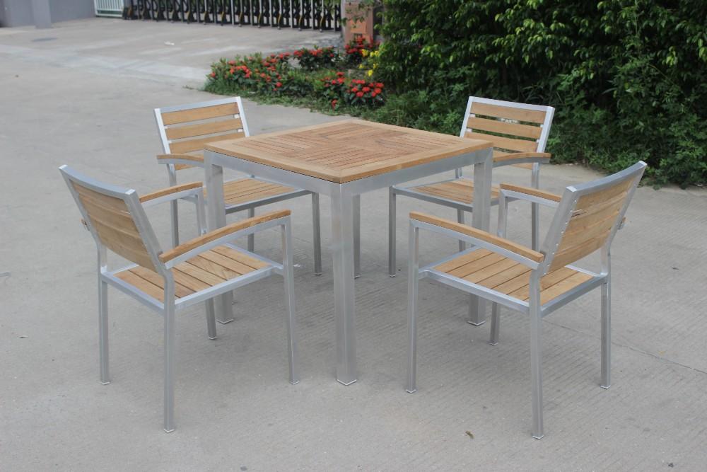 Foshan manger ensemble table et chaises en teck meubles for Set de table en osier