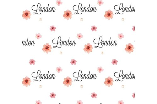 Personalized Baby Blanket, Baby Girl Gifts, Personalized Swaddle Blanket, Custom Baby Blanket, Crib or Toddler Blanket, Baby Blankie, Baby Blanket with Name All Over, Receiving Blanket (London)