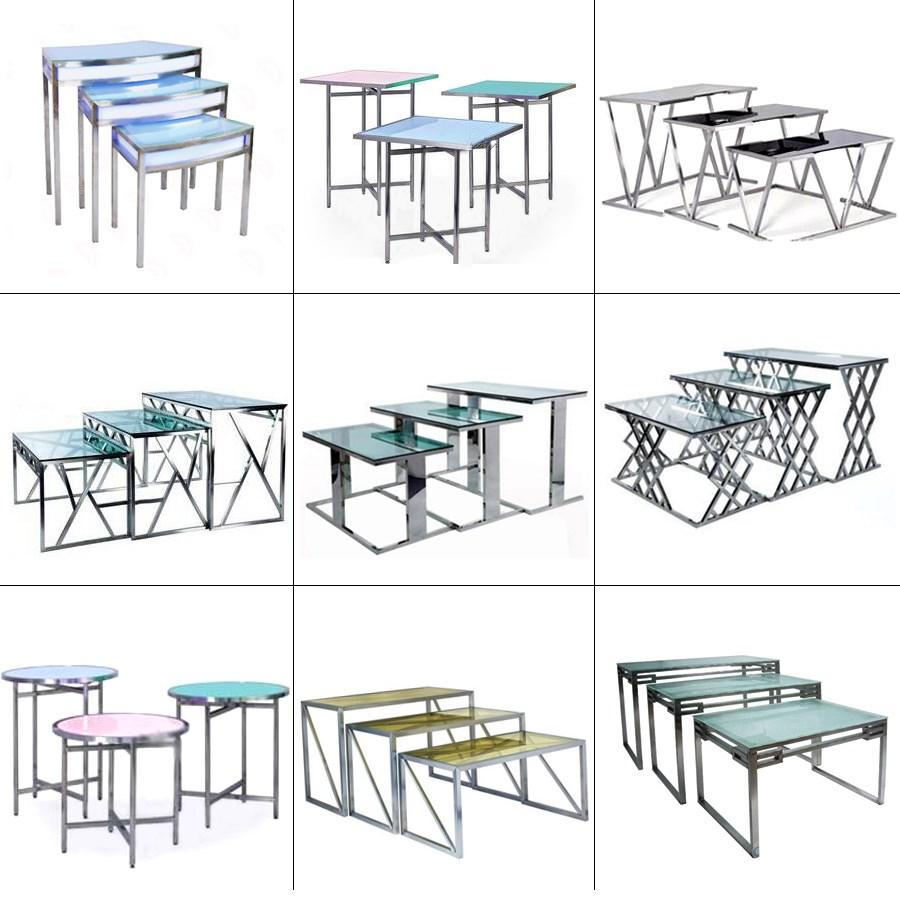 Ice Bucket Table Folding Acrylic Led Buffet Catering Ice Tableice Bucket Table