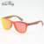 Hot Selling OEM Mirrored Wood Arm One Piece Lens Sunglasses For Men