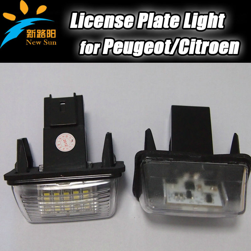 Ultra Bright Led License Number Plate Light Peugeot 206 207 306 307 406 407 308 5008 for Citroen C3 C3 Ii C3 Picasso C4 Picas