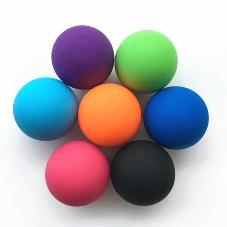 Wholesale nature silicone rubber colors yoga massage <strong>ball</strong>