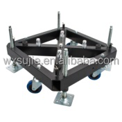 Truss steel base with wheel aluminum base