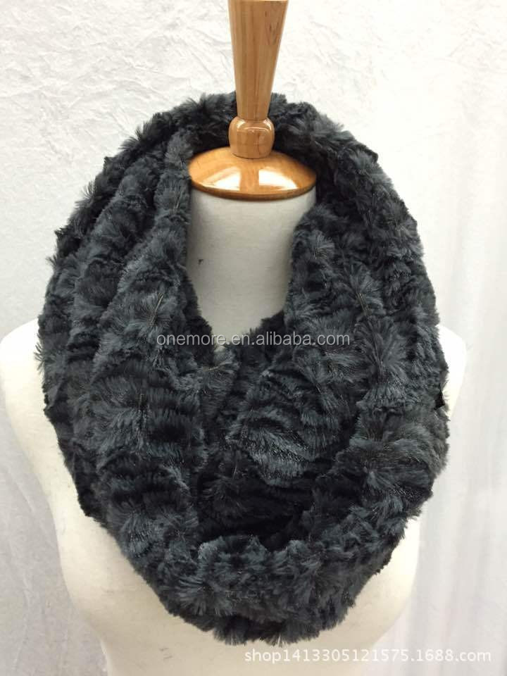 Lady Top Fur Fashion Genuine Blue Fox Fur Neckerchief With Fur Tail For Winter