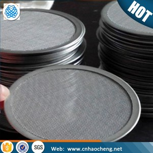 5 10 20 25 micron plastic extruder screens fine reusable stainless steel mesh filter disc