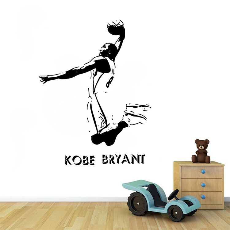 Cheap Living Room Sports Basketball 3d PVC Wall Sticker Decoration For Boy