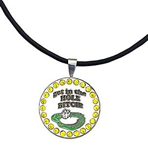 Giggle Golf - Bling Get In The Hole Bitch Ball Marker Necklace