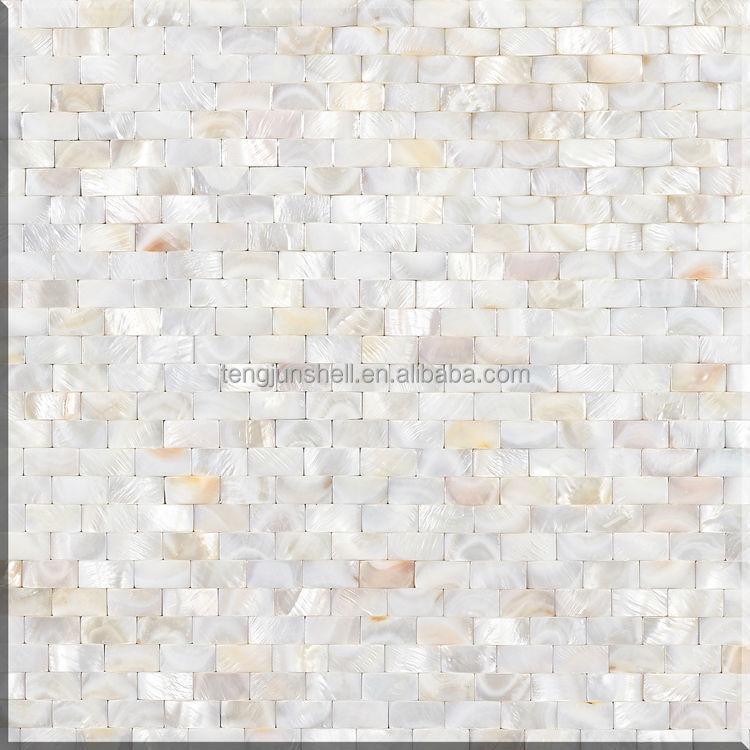 Shell Ziegel Muster Perlmutt Muschel Weiss Marokkanische Mosaik