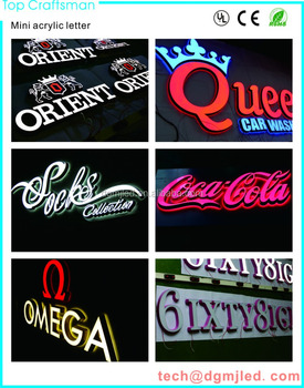 3D acrylic LED advertising sign