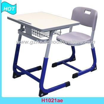 Height Adjusting Metal Table Frame Kids Desks And Chairs Sets School ...