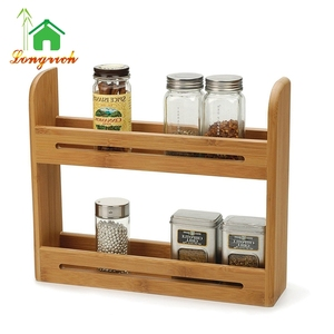 Endurance Bamboo Expendable Spice Shelf Storage Rack Organizer
