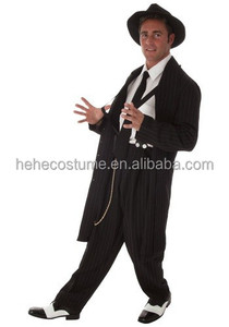 2015 new design Plus Size Black Zoot Suit