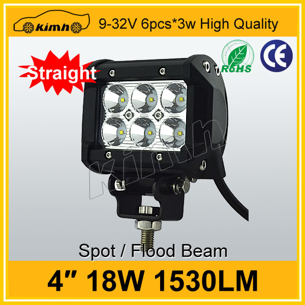 "New product car accessory 4"" 18w motorcycle led light bar"