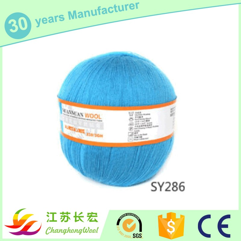 24Nm/2 50 mercerized wool 50 Tencel blended yarn for knitting semi- worsted yarn We have in stock