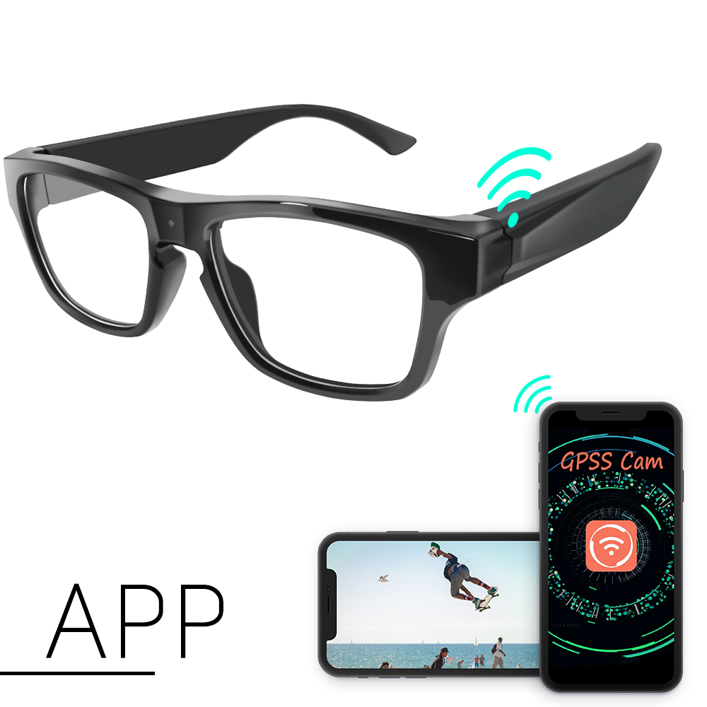 Hot 1080P Glasses Hidden P2P <strong>Wifi</strong> 30m LAN Camera Glasses Camera Baby Monitor Nanny Cam Mini Spy Gear