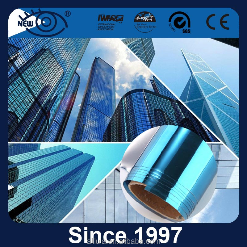 commercial building reflective high heat rejection one way vision uv cut solar film building