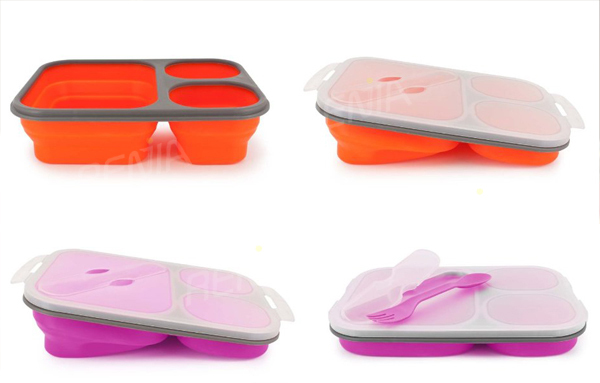 Renjia Food Grade Plastic Containercollapsible Silicon Food Storage