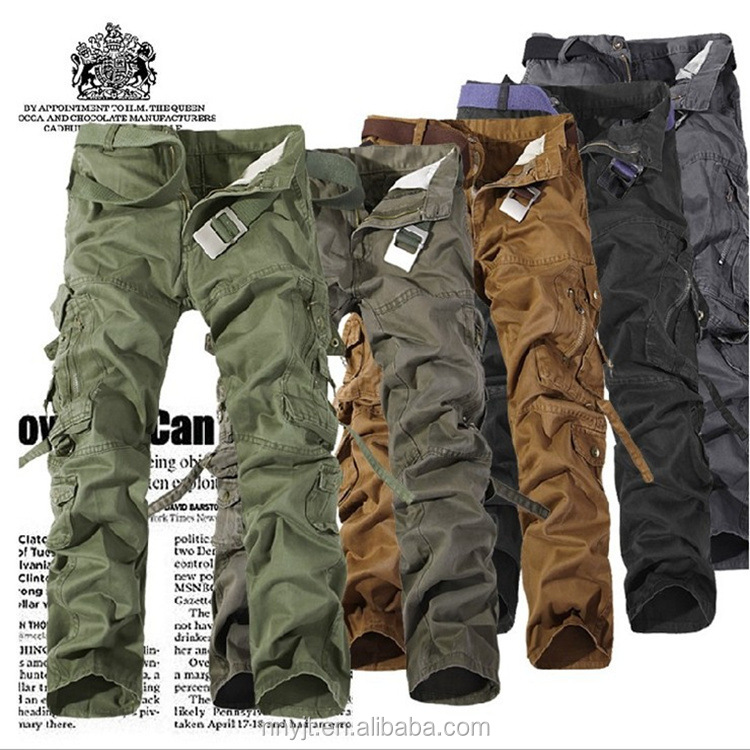 2017 Cool Army Cargo Pants Men Work Out Trousers 5 Colors Available