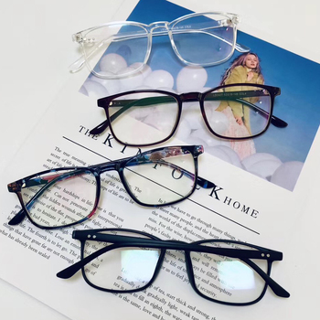 fashion reading glasses frames transparent plastic optical spectacle frame women square glasses clear lens eyeglasses wholesale