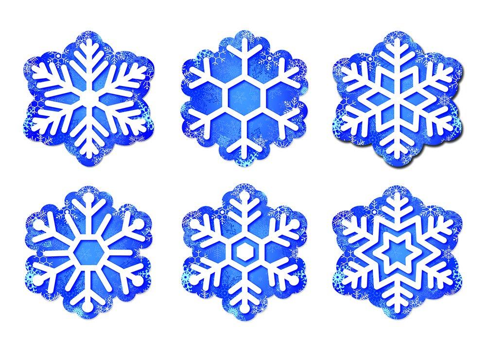 "Creative Teaching Press 6"" Designer Cut-Outs, Snowflakes (6414)"