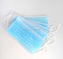 Disposable medical blue surgical face mask