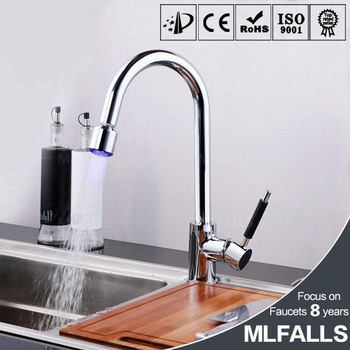 wholesale chrome led copper kitchen faucets single hole pull down rh alibaba com  kitchen faucet outlet wholesale