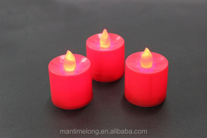 LED candle light romantic atmosphere of colorful red wedding smoke-free tea lights lamps