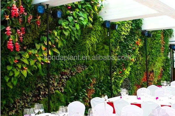 high quality artificial hanging plant wall,outdoor building