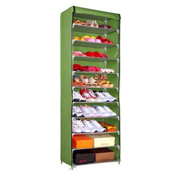 10 Tiers Shoe Rack 50 Pairs Tall Shoe Shelf Portable Shoe Rack Cabinet